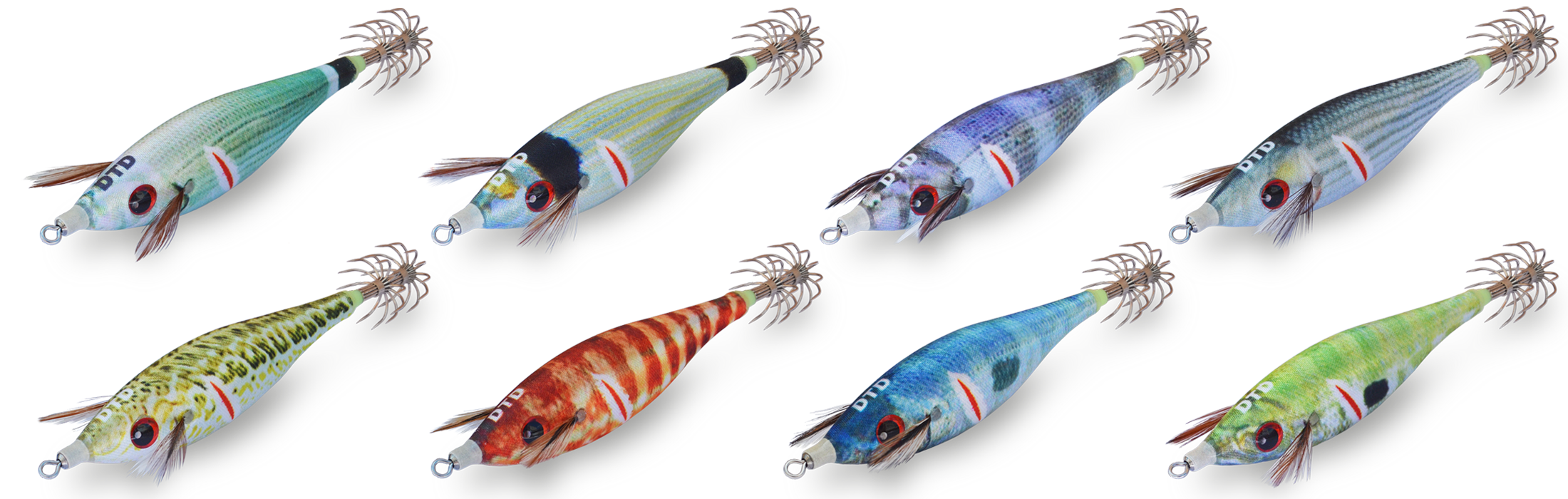 WOUNDED FISH - Squid jigs Bukva - DTD - High quality squid jigs